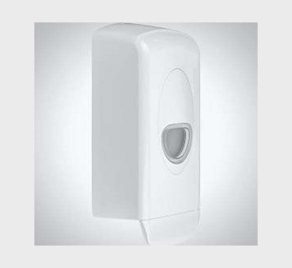 white hand sanitiser dispener website square